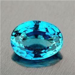 Natural Intense Blue Zircon 3.75 Cts {VVS}