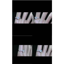 Natural Princess Diamond Ring E/SI1 - 1.05 Cts