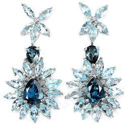 Natural  LONDON & SKY BLUE TOPAZ Earrings