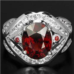 NATURAL RED SPESSARTITE GARNET Ring
