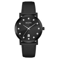 Bulova All Black Natural Diamond Watch