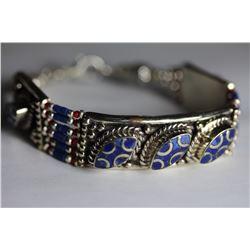 Tibet  Hand Made Lapiz Lazuli  Bracelet