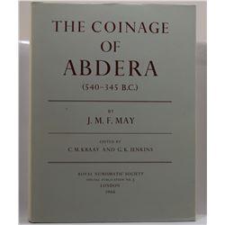 May: The Coinage of Abdera (540-345 B.C.)