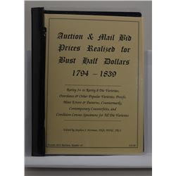 Herrman: Auction & Mail Bid Prices Realized for Bust Half Dollars 1794-1839