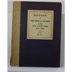 Knowles: History of the Bank for Savings in the City of New York 1819-1929