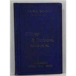 Whitney & Stephenson: Whitney & Stephenson's Blue Book 1871-1891