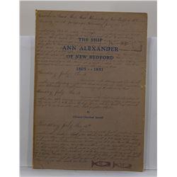 Sawtell: The Ship Ann Alexander of New Bedford 1805-1851