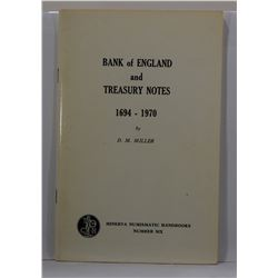 Miller: Bank of England and Treasury Notes 1694-1970