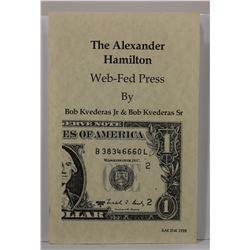 Kvederas: (Signed) The Alexander Hamilton: Web-Fed Press