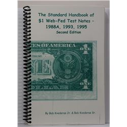 Kvederas: (Signed) The Standard Handbook of $1 Web-Fed Test Notes: 1988A, 1993, 1995