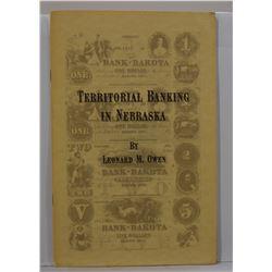 Owen: Territorial Banking in Nebraska