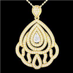 2 CTW Micro Pave VS/SI Diamond Designer Necklace 18K Yellow Gold - REF-276W2F - 21265