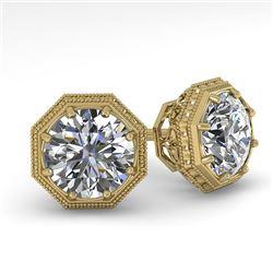 1.50 CTW Certified VS/SI Diamond Stud Earrings 18K Yellow Gold - REF-311A3X - 35968