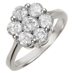 1.50 CTW Certified VS/SI Diamond Ring 18K White Gold - REF-194W8F - 10073