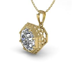 0.50 CTW VS/SI Diamond Solitaire Necklace 18K Yellow Gold - REF-97A3X - 35992
