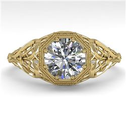 1.0 CTW VS/SI Diamond Solitaire Engagement Ring 18K Yellow Gold - REF-299M4H - 36031