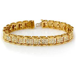 7.0 CTW Certified VS/SI Diamond Bracelet 14K Yellow Gold - REF-420K8W - 14080