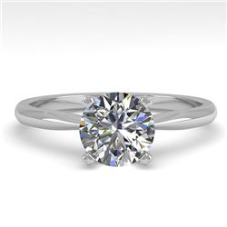 1.01 CTW VS/SI Diamond Engagement Designer Ring 18K White Gold - REF-284W8F - 32400