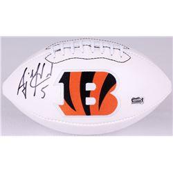 AJ McCarron Signed Bengals Logo Football (Radtke COA)