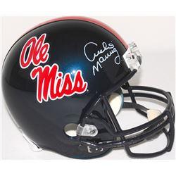 Archie Manning Signed Ole Miss Throwback Full Size Helmet (Radtke COA)