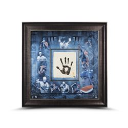 Wayne Gretzky Signed LE Oilers 36x36 Custom Framed Tegata Handprint Display (UDA COA)