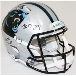 """Luke Kuechly Signed Panthers Full-Size Authentic Pro-Line Speed Helmet Inscribed """"2013 DPOY,"""" """"156 T"""