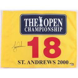 Tiger Woods Signed LE 2000 British Open Pin Flag (UDA COA)