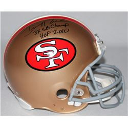 """Jerry Rice Signed LE 49ers Full-Size Authentic Pro-Line Helmet Inscribed """"3X SB Champ""""  """"HOF 2010"""" ("""