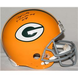 """Paul Hornung Signed Packers Full-Size Authentic Pro-Line Helmet Inscribed """"4-Time NFL Champs""""  """"HOF"""