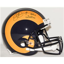 """Eric Dickerson Signed Rams Full-Size Authentic Pro-Line Helmet Inscribed """"HOF 99""""  """"2105 YDs"""" Limite"""