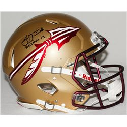 """Jameis Winston Signed LE Florida State Full-Size Authentic Pro-Line Speed Helmet Inscribed """"Heisman"""