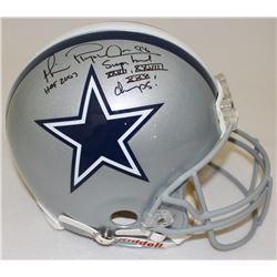 "Michael Irvin Signed Cowboys Full-Size Authentic Pro-Line Helmet Inscribed ""Playmaker,"" ""HOF 2007"""