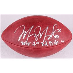 """Marcus Mariota Signed Official NFL Game Ball Inscribed """"2015 1st Rd Pick"""" Limited Edition #8/8 (Stei"""