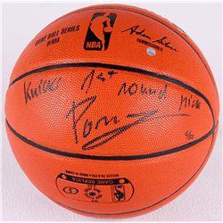 "Kristaps Porzingis Signed LE NBA Game Ball Series Basketball Inscribed ""Knicks 1st Round Pick"" (Stei"