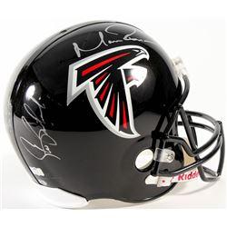 Matt Ryan  Steve Bartkowski Signed LE Falcons Full-Size Helmet (Radtke COA)