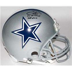 """Emmitt Smith Signed Cowboys Full-Size Authentic Pro-Line Helmet Inscribed """"3x SB Champs""""  """"HOF 2010"""""""