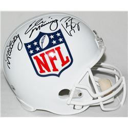 Archie Manning, Eli Manning  Peyton Manning Signed NFL Shield Full-Size Helmet (Steiner COA, Radtke