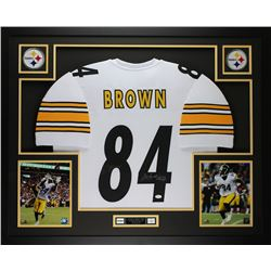 b913bfe3d18 Antonio Brown Signed Steelers 35x43 Custom Framed Jersey (JSA ...