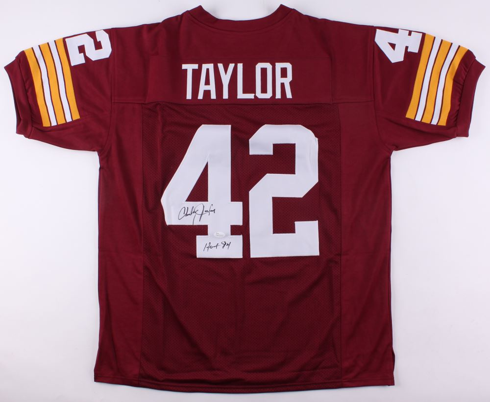 low priced dc327 a782d Charley Taylor Signed Redskins Jersey Inscribed
