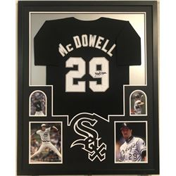 Jack McDowell Signed White Sox 34x42 Custom Framed Jersey Display (JSA COA)