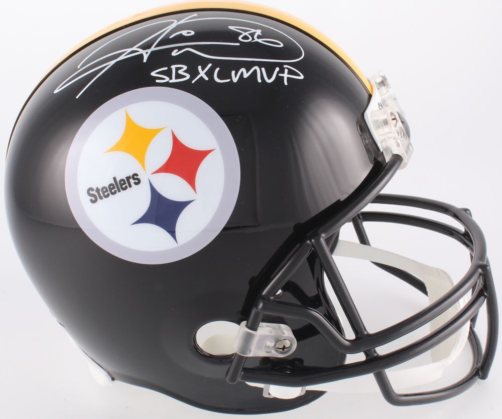 2187988b0f7 Image 1 : Hines Ward Signed Steelers Full-Size Helmet Inscribed