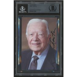 Jimmy Carter Signed 3.5x5 Photo (Beckett Encapsulated)
