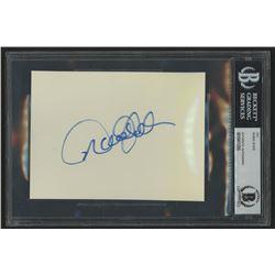 Derek Jeter Signed 4.5x6 Cut (Beckett Encapsulated)