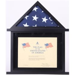 United States Capitol American Flag Flown over the Capitol on May 29, 2017 with Display Holder (Arch