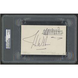 John Williams Signed 4x6 Idex Card (PSA Encapsulated)