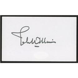 John Williams Signed 3x5 Idex Card (JSA COA)