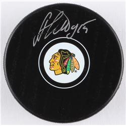 Artem Anisimov Signed Blackhawks Logo Hockey Puck (Beckett COA)