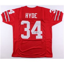 Carlos Hyde Signed Ohio State Buckeyes Jersey (JSA COA)