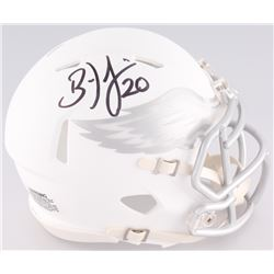 Brian Dawkins Signed Eagles White Ice Custom Matte Speed Mini-Helmet (JSA COA)
