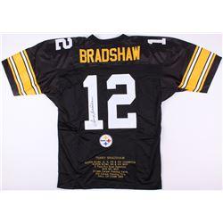 Terry Bradshaw Signed Steelers Career Highlight Stat Jersey (JSA COA)
